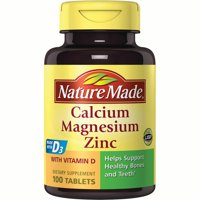 Nature Made Calcium Magnesium Zinc Tablets, 100 Ct