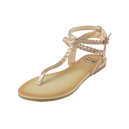 Alpine Swiss Womens Gladiator Sandals Braided T-Strap Slingback Roman Flats ()