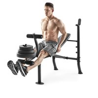 Weider XR 6.1 Adjustable Bench with 100lb Weight Set and Leg Developer