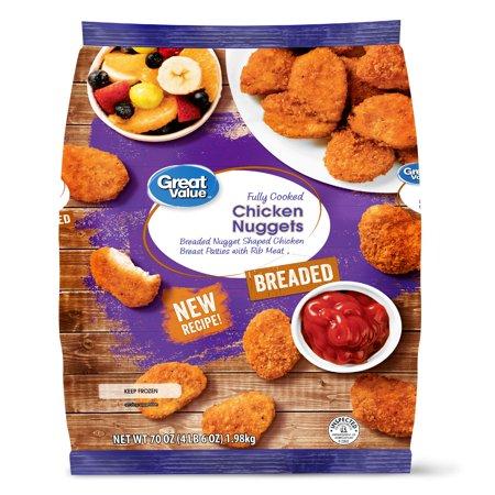Great Value Chicken Nuggets 70 Oz Walmart