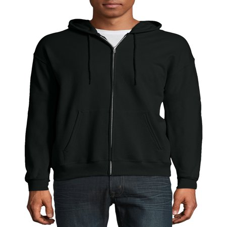 Hooded Fleece Sweatshirt Jacket - Hanes Men's Ecosmart Fleece Zip Pullover Hoodie with Front Pocket