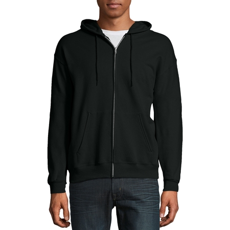 Front Zip Pocket (Hanes Men's Ecosmart Fleece Zip Pullover Hoodie with Front)