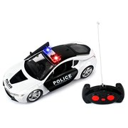 Safeguard Police Remote Control RC Sports Car Ready To Run w/ LED Headlights, Opening Doors