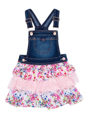 Tiered Denim Skirtall (Toddler Girls)