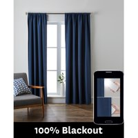 Better Homes and Gardens Julius Certified 100 Percent Blackout Window Curtain Panel