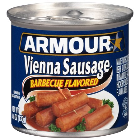 Ground Pork Sausage ((4 Pack) Armour Barbecue Flavored Vienna Sausage, 4.6 oz Can )