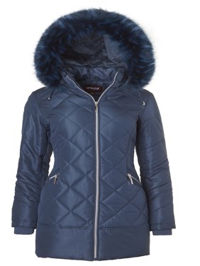 Product Image Sportoli Women\u0027s Long Down Alternative Puffer Coat Zip-Off Plush Lined Fur Trim Hood - Womens Coats \u0026 Jackets Walmart.com