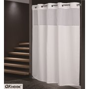 QKHook Hookless Shower Curtain With Snap In Liner 1 Packs 71x74 Inches Mildew Resistant