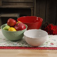 The Pioneer Woman Holiday 3-Piece Ceramic Serving Bowl Set