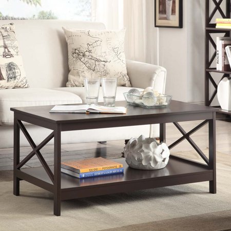 Convenience Concepts Oxford Coffee Table, Multiple - Espresso Living Room Set