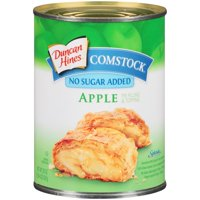 (2 Pack) Comstock Apple No Sugar Added Pie Filling Or Topping, 20 oz