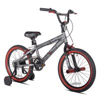 "Kent 18"" Boys, Abyss FS18 BMX Bike, Silver, For Ages 6-9"