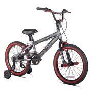 """Kent 18"""" Boys, Abyss FS18 BMX Bike, Silver, For Ages 6-9"""