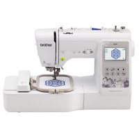 Brother SE600 Combination Computerized Sewing and 4x4 Embroidery Machine with Color LCD display, 80 Embroidery Designs