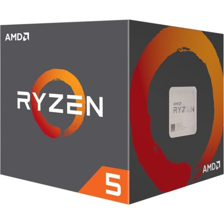 AMD Ryzen 5 1600 Processor 3.6 GHz 6-Core AM4 Processor with Wraith Spire Cooler -