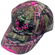 Camo Cutie Cap Womens Mossy Oak Camo Cap with hot pink Trim and logo