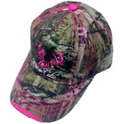 8c70821b98d Camo Cutie Cap Womens Mossy Oak Camo Cap with hot pink Trim and logo