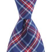Vineyard Vines Men's Poinsetta Plaid Check Cotton Tie in Blue $85.00