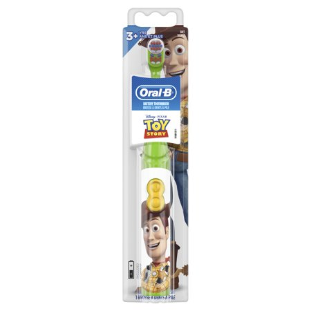 Kids Battery Toothbrush - Oral-B Kid's Battery Toothbrush featuring Disney Pixar Toy Story, Soft Bristles, for Kids 3+