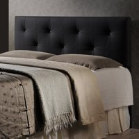 Baxton Studio Kirchem Upholstered Black Queen Headboard