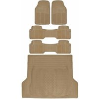 BDK Car SUV and Van Floor Rubber Mats with Cargo Trunk Mat, Heavy Duty All Weather Protection, 3 Colors