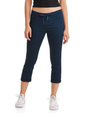 Juniors' Pull-On Dorm Crop Capri Pants (Denim and Color Washes)