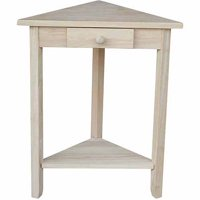 International Concepts Ot-95 Corner Accent Table, Ready To Finish