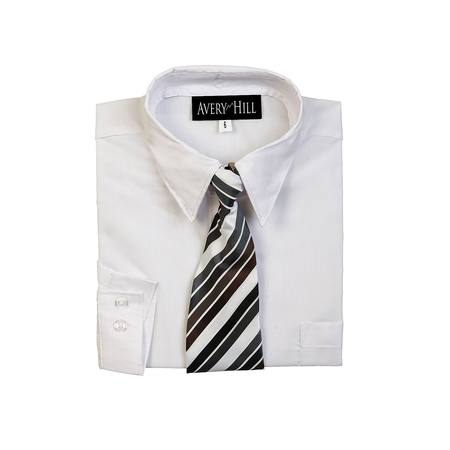 Avery Hill Boys Long Sleeve Dress Shirt with Windsor Tie - Boys Cowboy Fancy Dress