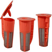 Keurig 2.0 K-Carafe Orange Refillable Coffee 4 Cup Filter K-Cup Reusable 3 Pack