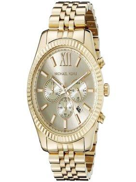 Men's Lexington Gold-Tone Chronograph Watch, MK8281