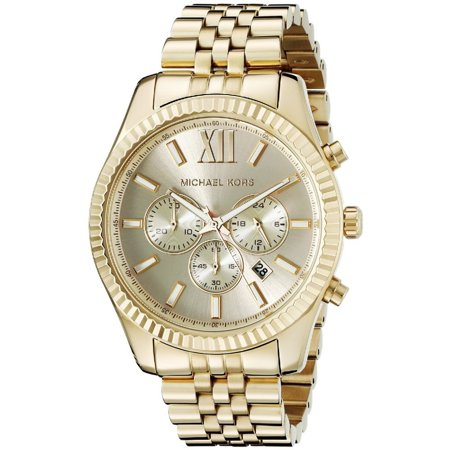 Michael Kors Men's Lexington Gold-Tone Chronograph Watch, MK8281