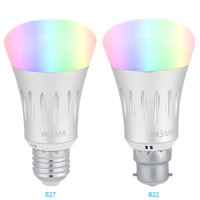 Wifi Smart Led Light bulb,Compatible With Alexa Google Home IFTTT Smart Home Automation Dimmable WiFi Wireless Remote Control Dimmable E27/ B22 Lamp Base