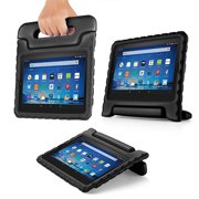Shock Proof Case for All New Fire HD 8 Tablet (7th Gen, 2017 Release) - For Kid Friendly Child Proof Anti Slip Impact Drop Light Weight Convertible Handle ...