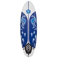 Best Choice Products 6' Foamie Board Surfboards, Blue/White