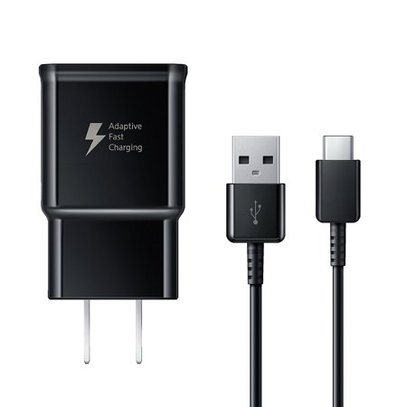 2 PACK - OEM Adaptive Fast Charger For Samsung Galaxy S9+ Cell Phones [Wall Charger + 4 FT USB C Cable] - USB 2.0 Fast Charging Kit True Digital Adaptive Fast