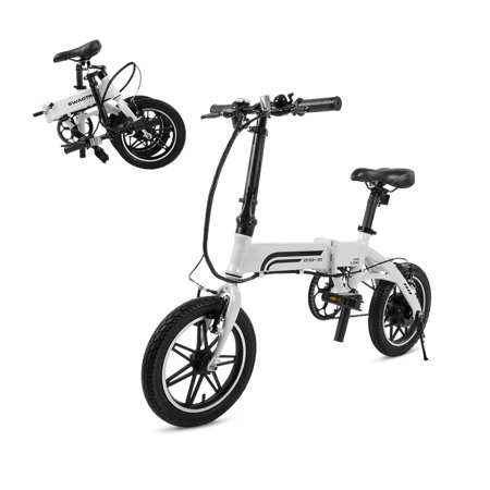 SWAGTRON EB-5 Lightweight Aluminum Folding Electric Bike with Pedals and Power Assist