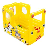 Fisher Price Lil' Learner School Bus Inflatable Play House Ball Pit with Balls
