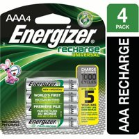 Energizer EcoAdvanced AAA Rechargeable Batteries, 4 Count