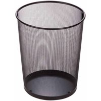 Honey Can Do 4.75-Gallon Round Mesh Metal Trash Basket, Multicolor