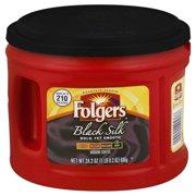 Folgers Black Silk Ground Coffee, Dark Roast, 24.2-Ounce