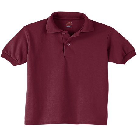 Hanes Youth EcoSmart Jersey Polo Shirt (Little Boys & Big Boys) Cutter & Buck Jersey Polo Shirt