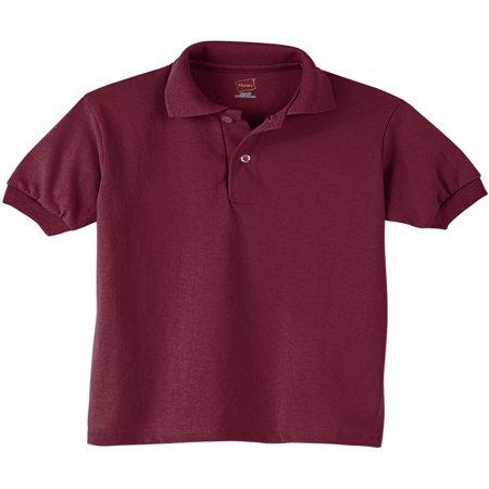 Hanes Youth EcoSmart Jersey Polo Shirt (Little Boys & Big -