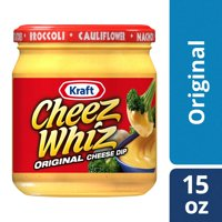 (2 Pack) Kraft Cheez Whiz Original Plain Cheese Dip, 15 oz Jar