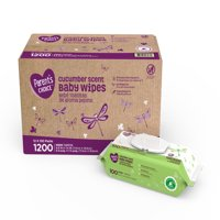 Parent's Choice Cucumber Scent Baby Wipes, 12 packs of 100 (1200 ct)
