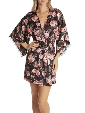 SECRET TREASURES WOMEN'S AND WOMEN'S PLUS SATIN ROBE