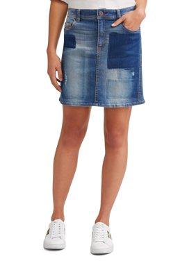 Alex Patchwork Denim Skirt Women's