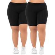 132d535bbd Women's Plus Size Active 2-Pack Bike Shorts Bundle