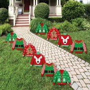 Ugly Sweater - Sweater Lawn Decorations - Outdoor Holiday & Christmas Yard Decorations - 10 Piece