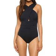 9f301a7a013aa WLLW Women Sexy Swimwear One Piece Summer Solid Color Chest Cross Bodysuit Bathing  Suit