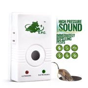 4-in-1 Pest Repeller & Repellent - Electromagnetic丨Ultrasonic丨Ionic丨Pest Control with Extra Socket